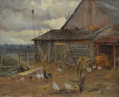 Aleksandr Nikiforovich Chervonenko, 'A backyard in the village', 1958