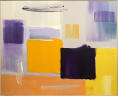 Milly Ristvedt, 'Logic - Deconstructed grids and squares in purple and yellow', 1989