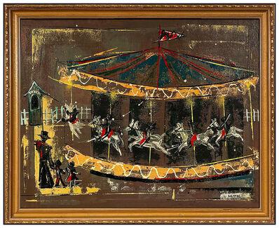 Edward Kienholz, 'Edward Kienholz Original Oil Painting On Board Signed Large Carousel Horse Art', 20th Century