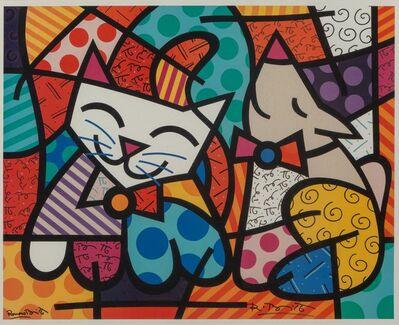 After Romero Britto, 'Happy Cat and Snob Dog', 2016
