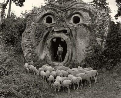 Herbert List, 'The 'Mostro' at Bomarzo', 1949
