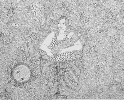 Shurooq Amin, 'She's Got Mona Lisa Eyes', 2018