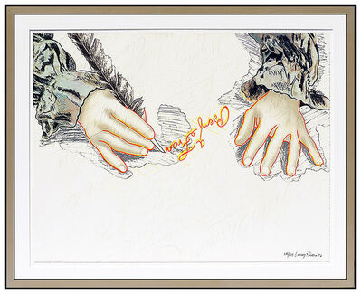 Larry Rivers, 'Larry Rivers Color Lithograph Hand Signed Big B Benjamin Franklin Modern Artwork', 1976