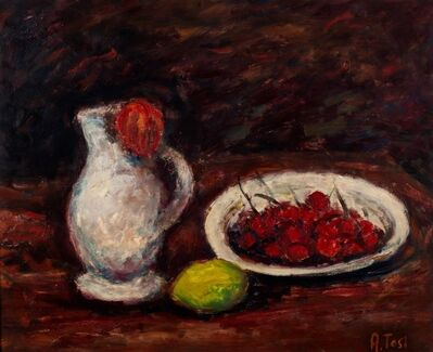 Arturo Tosi, 'Still life with jug and cherries'
