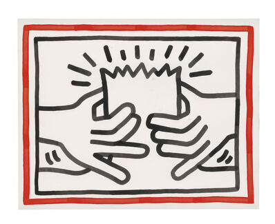 Keith Haring, 'Busted Head', 1984