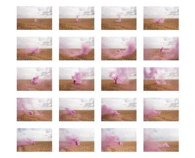 Isabelle & Alexis, 'Les Mureaux - Different expressions of a pink cloud on a wheat field.', 2017
