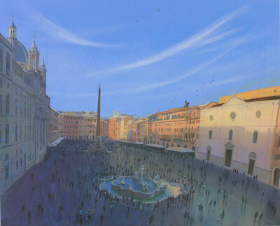 Nicholas Hely Hutchinson, 'Evening in the Piazza Navona', 2017