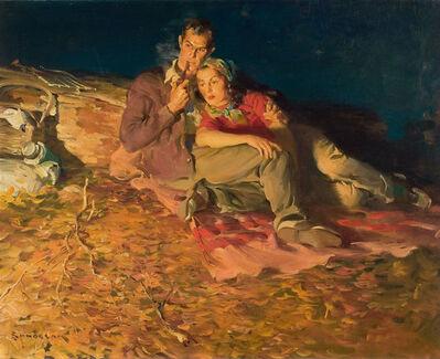 Haddon Sundblom, 'Evening by the Fire', 1930