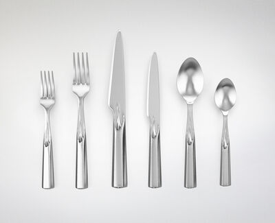 "Janne Kyttanen, '""Ice Breakers"" 3D-Printed Stainless Steel Utensil Set ', 2014"