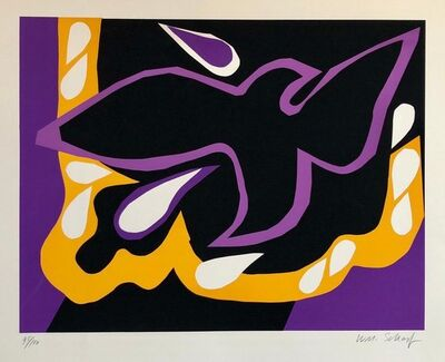 William Scharf, 'Bright Vibrant Pop Art Silkscreen NYC Abstract Expressionist', 1970-1979