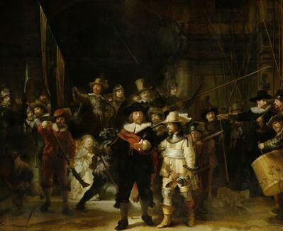 Rembrandt van Rijn, 'The Company of Frans Banning Cocq and Willem van Ruytenburch (The Night Watch)', 1642