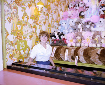 Joe Maloney, 'Girl with Stuffed Animals, Asbury Park, New Jersey', 1980