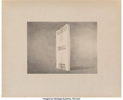 Ed Ruscha, 'Various Small Fires, from the Book Covers series', 1970