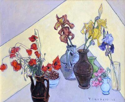 Joseph Plaskett, 'Field Poppy, Three Irises, and Geranium', 2003