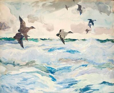 Frank Weston Benson, 'Sea Ducks', 1925
