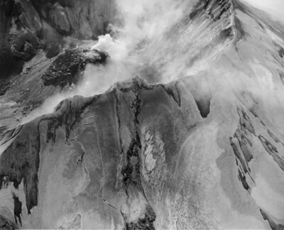 Frank Gohlke, 'Aerial view: Mount St. Helens rim, crater and lava dome', 1982
