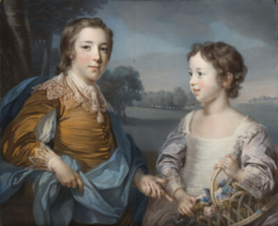 Francis Cotes, 'Portrait of Joseph (1741-1786) and his Brother John Gulston (1750-1764)', 1754