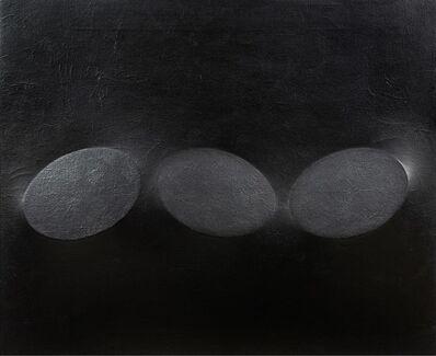 Turi Simeti, 'Tre ovali neri', 1988