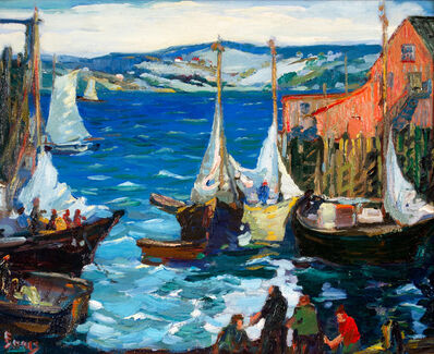 George Pearse Ennis, 'Busy Harbor Day', 19th -20th Century