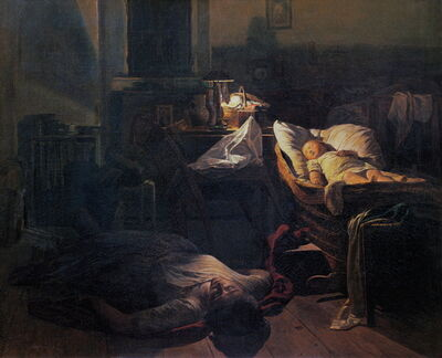 Ferdinand Georg Waldmüller, 'Exhausted Strength', 1854