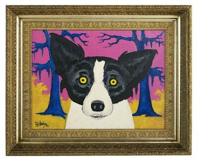 "George Rodrigue, '""Almost Primary Dog,"" Tiffany ', 1993"