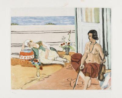 Jacques Villon, 'Odalisque sur la terrasse (G & P 633)', 1922