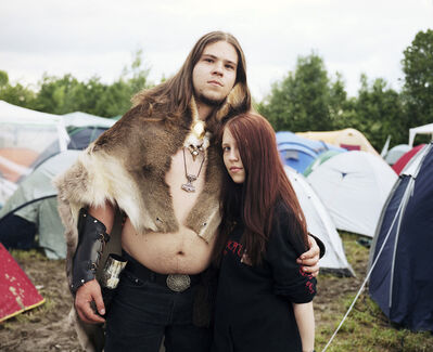 Jörg Brüggemann, 'Embracing Couple II Summer Nights Festival, Mining am Inn, Austria May 2009', 2009