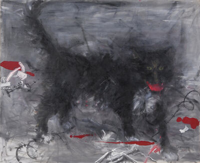 Jinsong Yang (b. 1955), 'Black cat', 2006