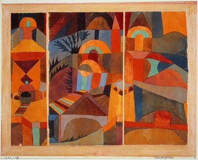 Paul Klee, 'Temple Gardens', 1920