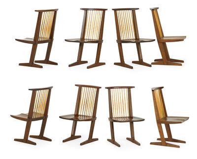 Mira Nakashima, 'Assembled set of eight Conoid chairs, New Hope, PA', 1990-92