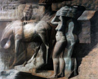 Armando Morales, 'Nude, Horse, Incinerator', 1974
