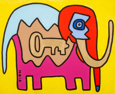Thierry Noir, 'John My Favorite Key Elephant', 2016