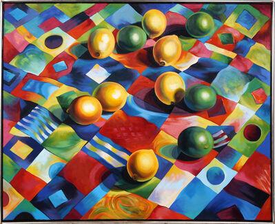 Lowell Nesbitt, 'Lemons and Limes on Quilt', 1988