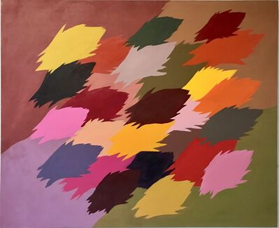 Edgar Heap of Birds, 'Neuf Series for Autumn, no. 4', 2014