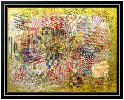 Robert Natkin, 'Robert Natkin Original Acrylic Painting On Canvas Signed Modern Abstract Artwork', 1974