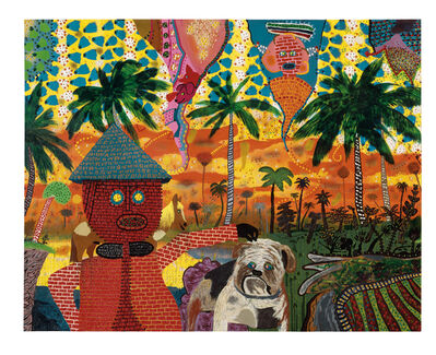 Roy De Forest, 'Hans Bricker in the Tropics', 1974