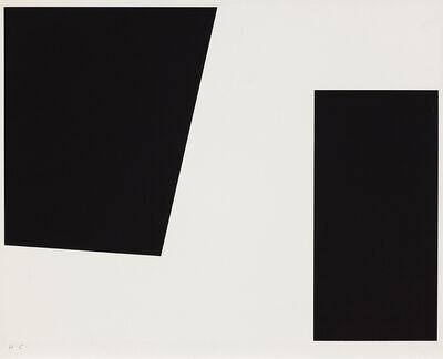 Guido Molinari, 'Sans titre (diagonal noir ou diagonale noire) (G.M.-S-34-h)', 1956-1967