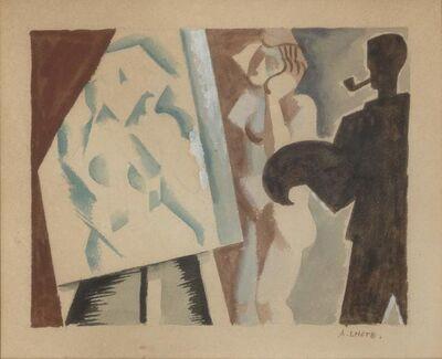 André Lhote, 'Le Peintre et son Modele', 1920