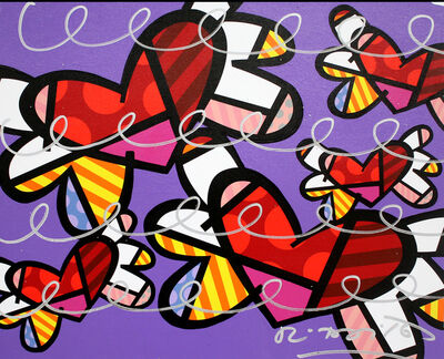 Romero Britto, 'Flying Hearts', 2016