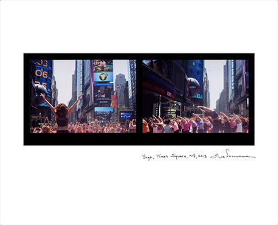 Eve Sonneman, 'Yoga, Times Square, New York', 2013