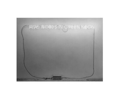 """Martí Cormand, 'Formalizing their concept: Joseph Kosuth's """"Five Words in Green Neon, 1965""""', 2915"""