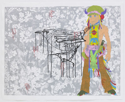 Ghada Amer & Reza Farkhondeh, 'The Weeping Bird', 2007