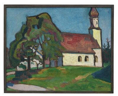 Gabriele Münter, 'Kirchlein von Riedhausen', 1908