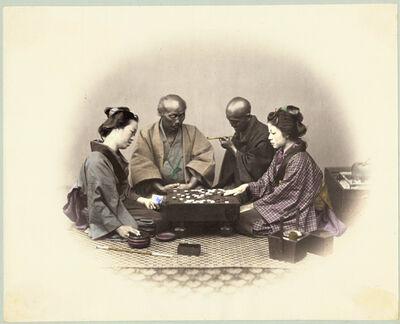 Felice Beato, 'Playing Go', 1868