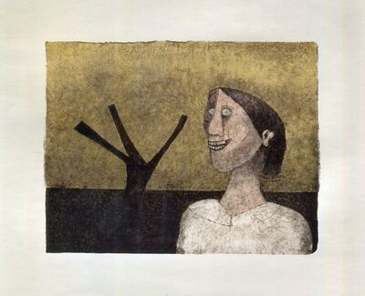 Rufino Tamayo, 'Mujer Sonriente from the 90th Anniversary suite (90 Aniversario)', 1989