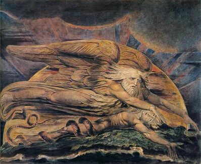 William Blake, 'Elohim Creating Adam', 1795