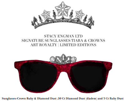 Stacy Engman, 'Sunglasses-Crown Ruby & Diamond Dust .50 Ct Diamond Dust (diadem) and 3 Ct Ruby Dust', 2019