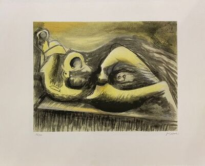 Henry Moore, 'Reclining Figure Idea for Metal Sculpture ', 1982