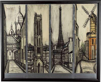 Bernard Buffet, 'Paravent (1. Le Sacré-Cœur 2. La Tour Saint-Jacques 3. La Tour Eiffel 4. Le Moulin de La Galette)', 1967
