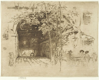 James Abbott McNeill Whistler, 'THE TRAGHETTO, NO. 2', 1879